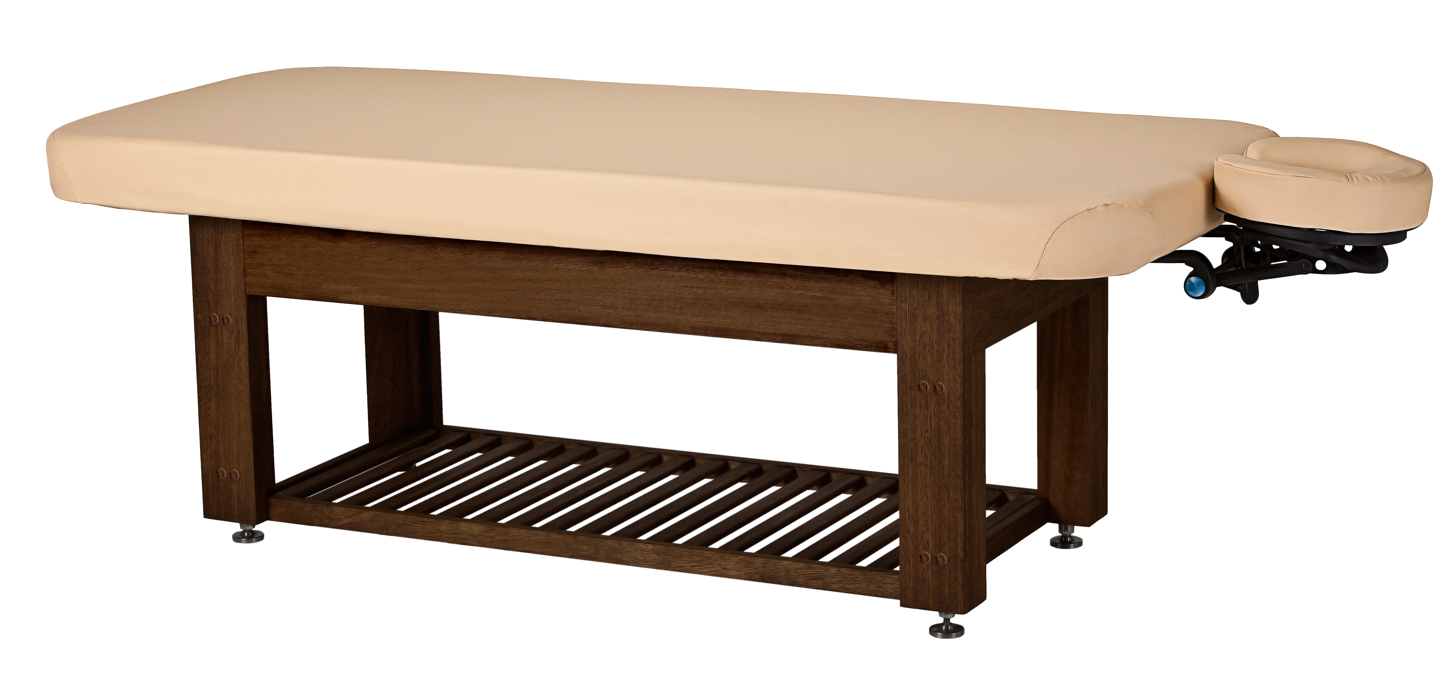 Oakworks Portable Massage Table Napa La Mer Spa and Salon Table Teak Base | Living Earth Crafts
